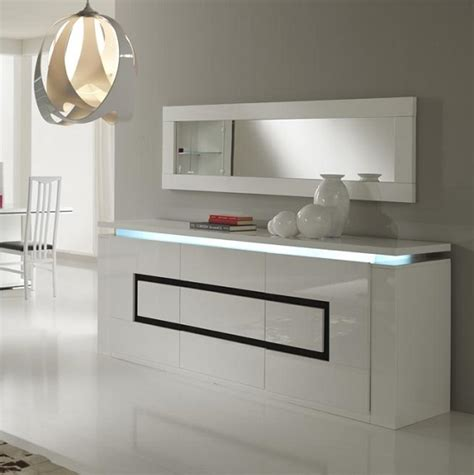Black And White Sideboard by Garde Sideboard In High Gloss White And Black With Led