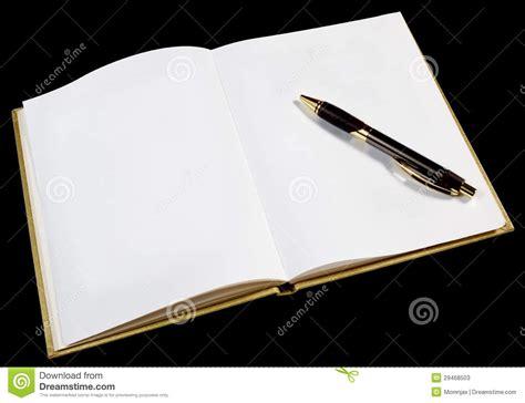 page blanc dans le livre ouvert d or image stock image