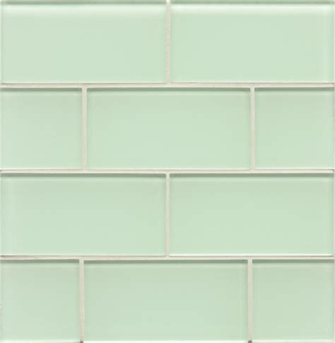 bottle subway glass tile light green contemporary wall