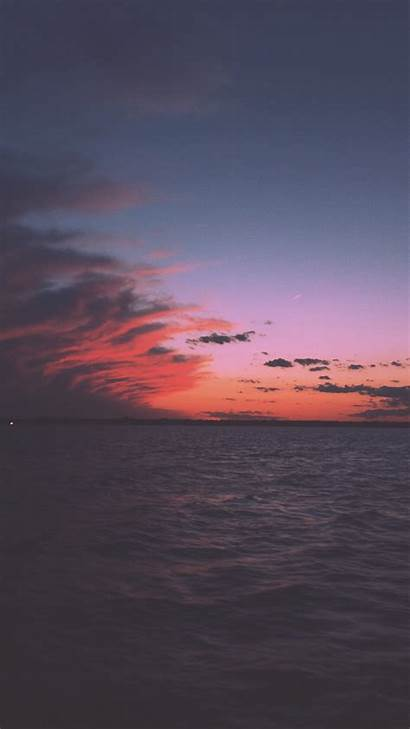 Sunset Portrait Alam Pemandangan Clouds Laut Indah