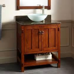 bathroom vanity with vessel sink 30 quot harington oak vessel sink vanity bathroom