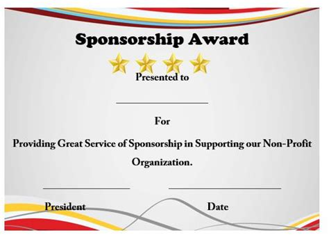 certificate of appreciation for sponsorship template 12 elegant certificates of appreciation for sponsorship