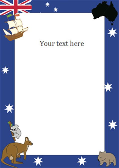 early learning resources australia day notepaper page