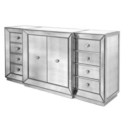 z gallerie omni dresser horchow shilo two door mirrored console copy cat chic