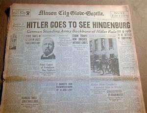1934 headline newspaper HITLER kills many NAZI leaders ...