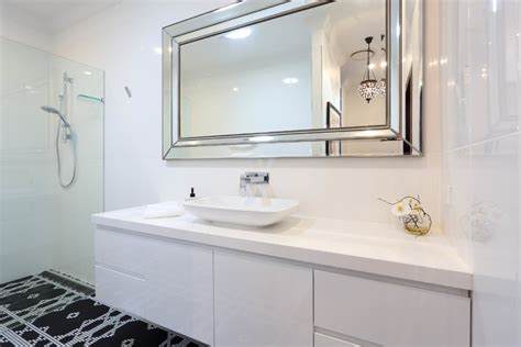 Hang A Frameless Bathroom Mirror