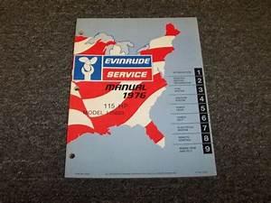 1976 Evinrude 115 Hp Outboard Motor Shop Service Repair