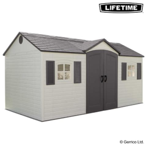 lifetime 15x8 single entry shed 6446