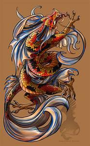 fantasy koi dragon | Koi Dragon tattoo by ~YamiGriffin on ...