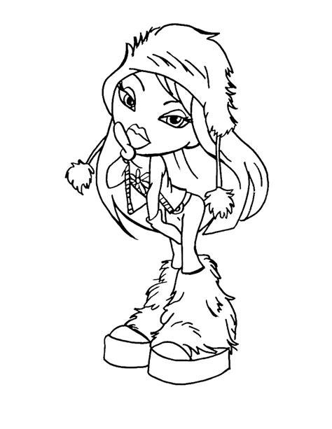 bratz barbie coloring pages   print