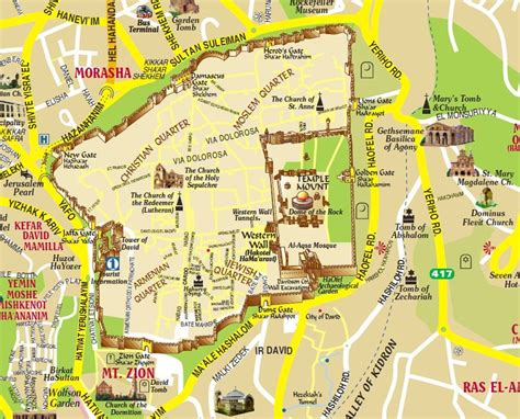 map  jerusalem  city  tourists  israel
