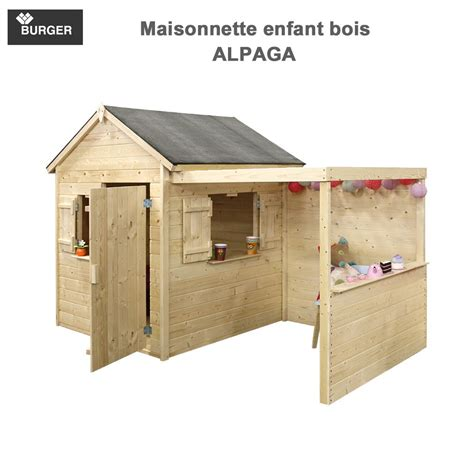 cabane enfant bois cabane en bois enfants alpaga