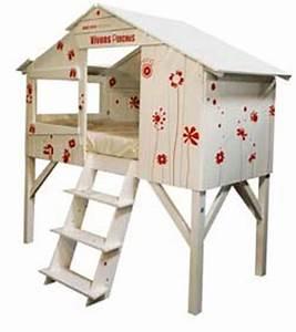 Lit Cabane Mezzanine : lit enfant cabane mezzanine dfork ~ Melissatoandfro.com Idées de Décoration