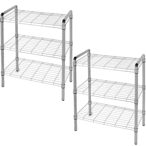 art  storage    tier quick rack adjustable wire shelving organizer  pack wss