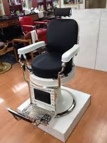 antique barber chair theo a kochs excellent condition restored leather porcelain ebay