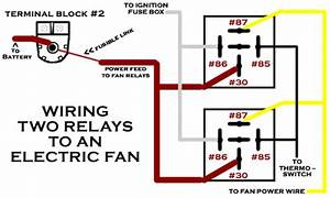 12v Question   Wiring 2 Relays In Parallel For Fan