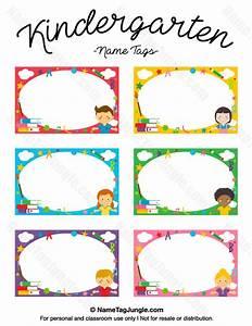 printable kindergarten name tags With preschool name tag templates