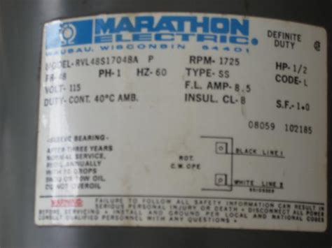 marathon  hp electric motor doityourselfcom