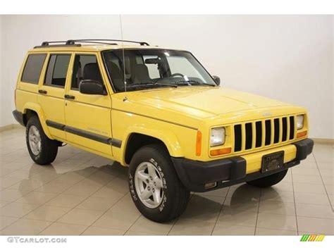2001 solar yellow jeep sport 4x4 16580112 photo 14 gtcarlot car color galleries