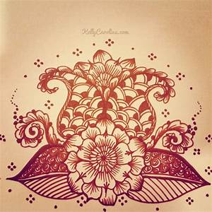flower henna designs :: henna art drawing http://www ...