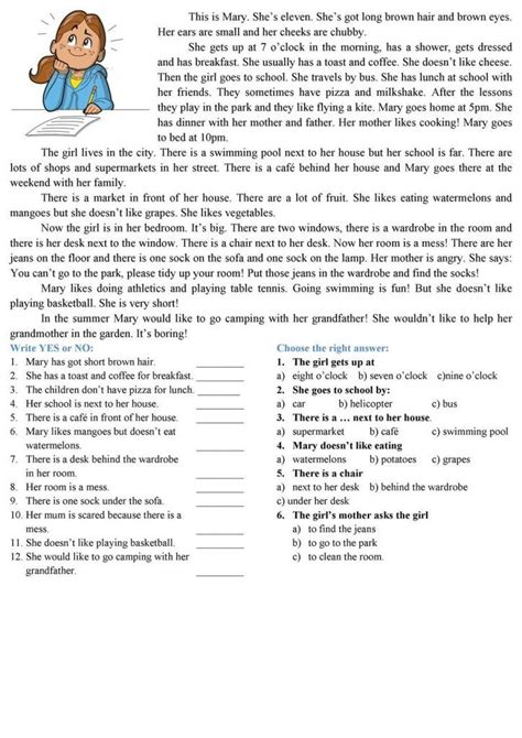 reading comprehension worksheets reading comprehension