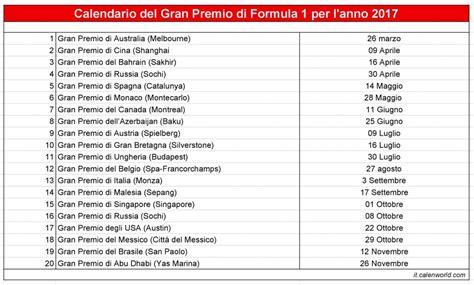 Подробный календарь этапов формулы 1 на 2018 год. Расписание гонок в чемпионате 2018.
