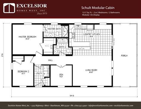 schult modular cabin excelsior homes west