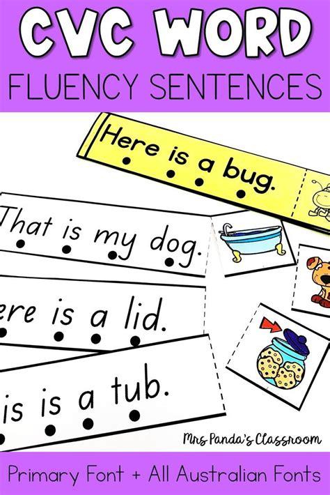 To record their work, they. CVC Word Activity - CVC Word Fluency Sentences | Cvc words ...