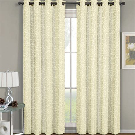 fiorela jacquard grommet top curtain panel each