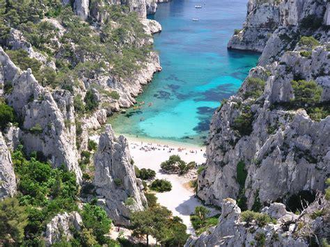 beaches calanques de cassis marsailles france desktop hd