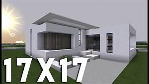 Maison En L Moderne : minecraft tuto construction maison moderne en 17x17 youtube ~ Melissatoandfro.com Idées de Décoration