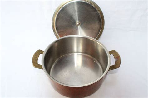 culinox spring switzerland original stainless steel copper cookware set  pans  lid