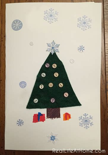 kid friendly christmas crafts easy kid friendly card craft real at home