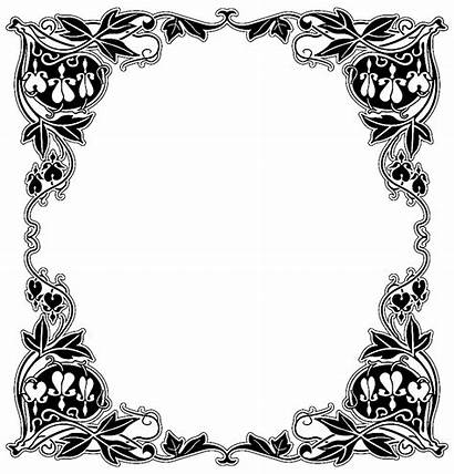 Cadre Coloring Coloriage Dessin Frame Baroque Adults