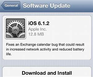 apple releases ios 612 to fix exchange battery drainage With ios 6 1 2 will fix exchange lockscreen issues