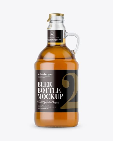 Free psd mockups templates for: Download Clear Glass Beer Bottle w/ Handle Mockup Object ...