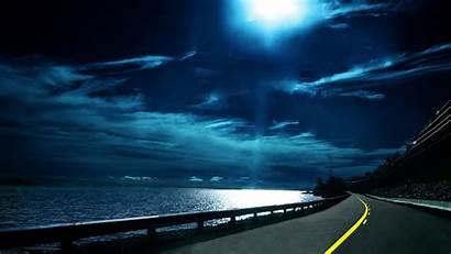 Screen Cool Night Moon Backgrounds Sea Fullscreen