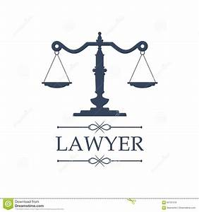 Lawyer Icon Of Justice Scales Vector Emblem Stock Vector ...