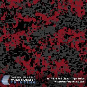 Red Digital Hydrographic Film by Tiger Stripe - WTP-833 | TWN