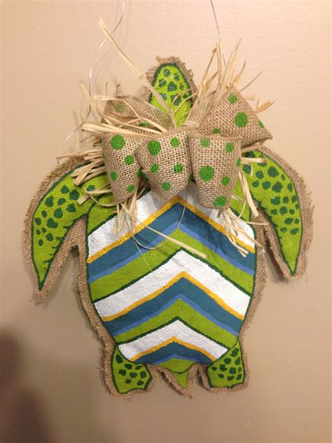 sea turtle burlap craft project crafts turtle crafts