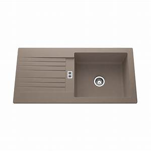 evier a encastrer resine beton solo 1 grand bac avec With salle de bain design avec evier 1 bac resine