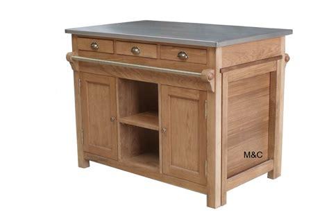 meuble central cuisine ilot de cuisine bourgogne en chne