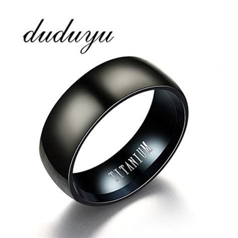 new 8 mm stainless steel titanium ring simple wedding jewelry couples rings bijouterie for man