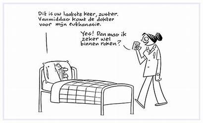 Strip Humor Zwarte Psychiater Sigmund