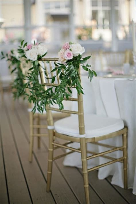 74 wedding chair decor ideas with floral swags and posies