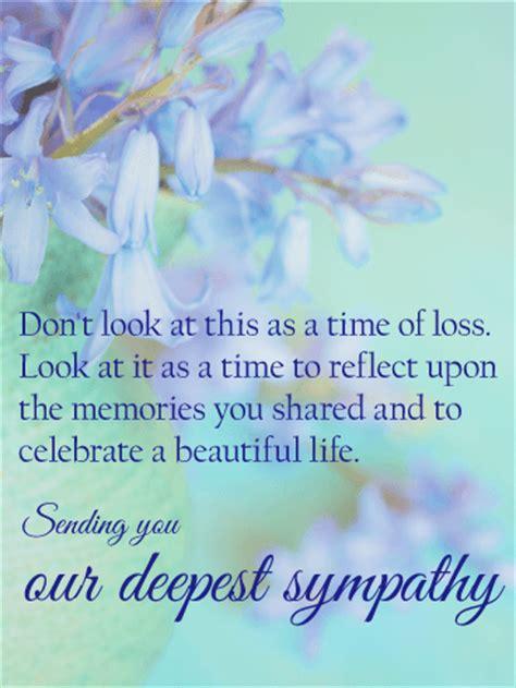 celebrate  beautiful life sympathy card birthday