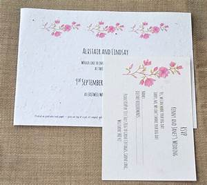 seed paper invite set seed paper wedding invites With seed paper wedding invitations uk