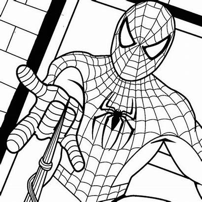 Coloring Teens Pages Spider Painting