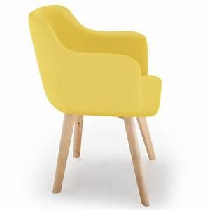 Fauteuil Scandinave Jaune : fauteuil scandinave en tissu sweet color 76cm jaune ~ Melissatoandfro.com Idées de Décoration