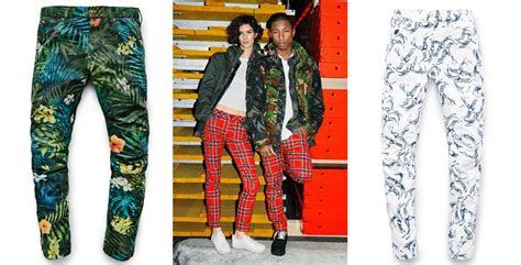 pharrell williams vibrant  star raw jeans collection
